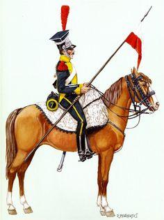 Vistla Legion Lancer Uhlan elite company of the 7th polka.1812