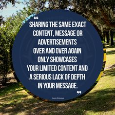 Expand the message and extend the messaging to show an endurance of experience and knowledge. A lot of the same old, same old being shared all too frequently as as new and improved... #messagingmatters #messaging #quote Knowledge, Messages, Content, Quotes, Quotations, Text Posts, Quote, Text Conversations