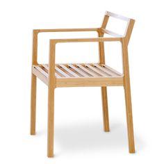 TEORI/TENSION アーム付 48300yen エコ素材「竹」のしなりで心地よい座り心地を実現したチェア