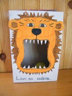 jeu : lion en colèèèèère. Lancer une balle dans sa gueule ouverte. Peut décharger la colère.