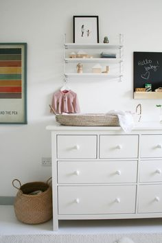 Nursery tour | IKEA Hemnes chest of drawers | Pocket string shelf | Changing basket | Apartment Apothecary