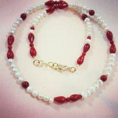 pearls and coral Necklaces گردنبند مروارید و مرجان