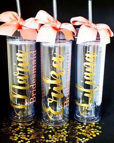 Tumbler-Personalized Tumbler-Bridal Party Gift-Bridesmaid Gift-Bride Gift-Wedding Favor-Wedding Tumbler-Bride Tumbler-Destination Wedding