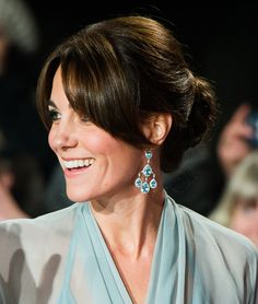Proof that Kate Middleton is the Princess of Bangs at a screening of Spectre in London in October 2015.