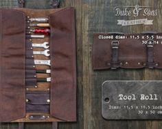 Peluquero herramienta Roll cuero hecho a por DukeAndSonsLeather