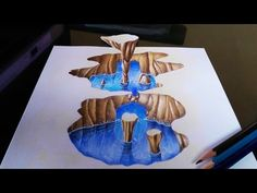 How to Draw a 3D Cavern - Optical Illusion - YouTube