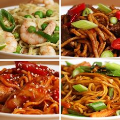 Featuring Veggie Garlic Noodles, Sweet-and-sour Chicken Noodles, Thai Green Prawn Noodles and Chili Beef Noodles