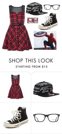 """""""Spiderman Inspired-- Team Iron Man 3/6"""" by bandumb ❤ liked on Polyvore featuring Quiz, Venom, Converse and Burberry"""