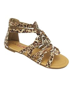 Another great find on #zulily! Leopard Gladiator Sandal #zulilyfinds