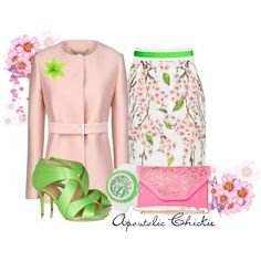 """""""Spring Blossoms"""" by apostolicchickie on Polyvore"""