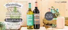 Oferta de pack de Vino Maravilloso Tinto y Verdejo, diseñado por @muymolon.  Amigos de las bodegas