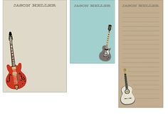 Personalize Guitars Mixed Personalized Notepads | Paper Source