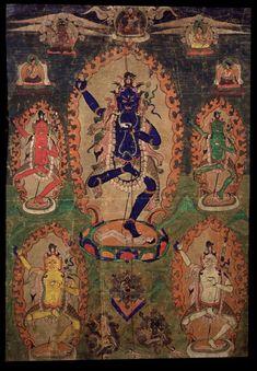 Vajrayogini (Buddhist Deity)    Krodha Kali (Wrathful Black Varahi)    Tibet  1800 - 1899