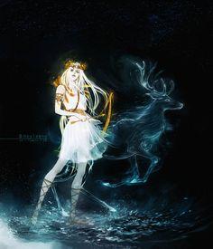 Reveries: Artemis, greek goddess of the hunt, wildlife and. Artemis, Artemis Art, Mythology Art, Moon Goddess, Art, Mythology, Greek Mythology Art, Old Portraits, Greek Goddess Art