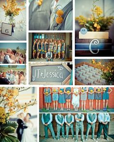 LOVE Teal. Yellow. & Grey weddings