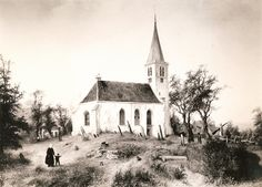 """""""Witte Kerkje"""", Heiloo, ca. 1850"""