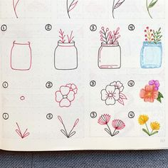 Looking to add some cute doodles to your bullet journal! Check out these super cute step by step tutorials to help you get started! Bullet Journal Font, Bullet Journal Ideas Pages, Bullet Journal Inspiration, Doodle Drawings, Easy Drawings, Doodle Art For Beginners, Bujo Doodles, Floral Doodle, Doodle Art Designs