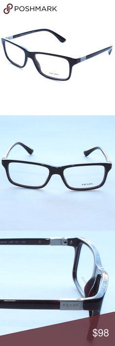 d126db0507b Prada Eyeglasses VPR06s 54 16 USF-101 Brand New 100% authentic Prada Brown