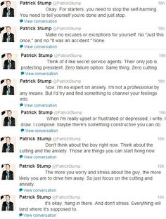 Patrick Stump, literally a hero.<< this man is amazing
