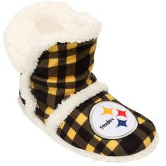 Women's Dallas Cowboys Flannel Sherpa Boot Slippers