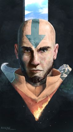Avatar Aang by Jack Watkins (thesecrethouse)