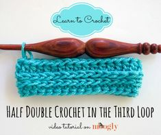 #Crochet Tutorial: How to Crochet in the 3rd Loop of the Hdc!