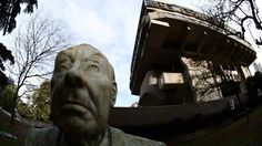 A statue of Borges stands outside the National Library of Argentina (Corbis) (Credit: Corbis)