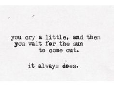 *This too shall pass ...