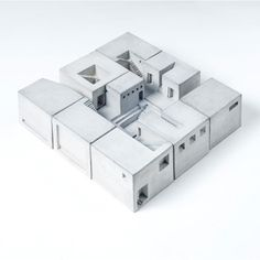 miniature concrete building blocks ~ material immaterial studio