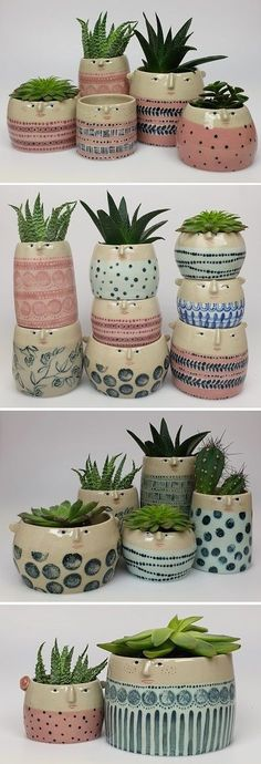 Ceramic Pots / The Pottery ParadeYou can find Ceramic pottery and more on our website.Ceramic Pots / The Pottery Parade Diy Ceramic, Ceramic Planters, Ceramic Vase, Ceramic Pottery, Pottery Art, Handmade Ceramic, Painted Pottery, Clay Vase, Painted Pots