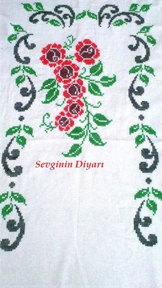 Easy Cross Stitch Patterns, Simple Cross Stitch, Cross Stitch Flowers, Cross Stitch Charts, Cross Stitch Designs, Bargello, Christmas Cross, Hand Embroidery, Bohemian Rug