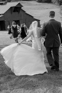 Nice idea fro barn weddings