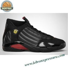 Air Jordan 14 Black Black Varsity Red