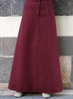 SHUKR USA | Cotton Flattering Fit Skirt Modest Dresses, Modest Outfits, Modest Fashion, Fashion Dresses, Maxi Skirt Outfits, Denim Overall Dress, Fitted Skirt, Casual Skirts, Fashion Outlet