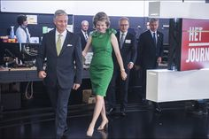 PRINCESS MONARCHY - King Philip and Queen Mathilde visited the Flemish public television channel VRT in Brussels.