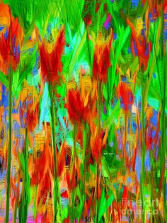 Wild Flowers Digital Art by Rafael Salazar