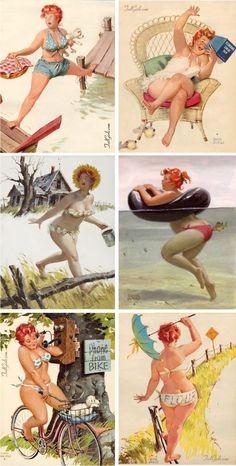 Pin Up Illustration, Girl Illustrations, Pin Up Vintage, Pinup Art, Poses Pin Up, Pin Up Girls, Dibujos Pin Up, Pin Up Drawings, Plus Size Art