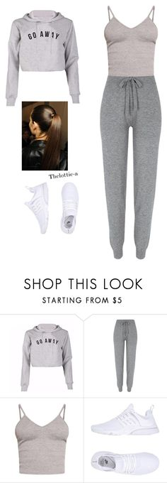 """Sans titre #60"" by thelottie-a ❤ liked on Polyvore featuring River Island, BasicGrey and NIKE"