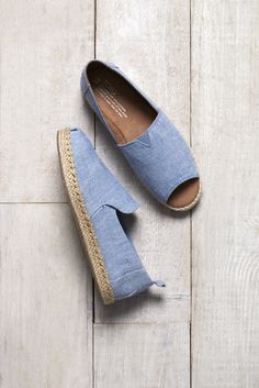 Take laid back to the next level with our Chambray  Deconstructed Alpargatas and Open Toe Espadrilles.