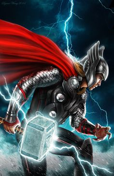 THOR by Dyana Wang  Personally, I think we didn't see enough of Thor's helmet in the movies.