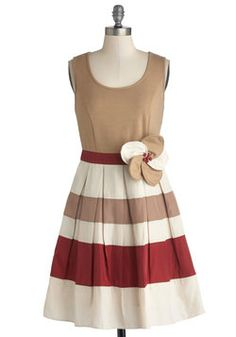 Pretty and Polished Dress, #ModCloth Obsessed with this. This would be such fun to play with. I'd love to see it with a jean jacket and flats, and then with a fabulous pair of D'Orsay pumps.