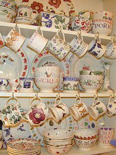 Emma Bridgewater and Nicholas Mosse Pottery Layout Design, Dresser Inspiration, Emma Bridgewater Pottery, Welsh Dresser, Kitchen Dresser, Vintage China, Household Items, Decoration, Tea Pots