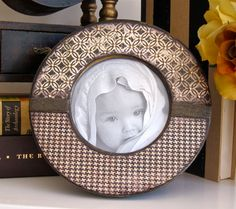 Photo Frame Handsome Vintage Steampunk Style by HannahBowBanna