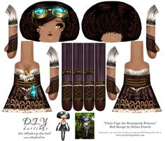 Cut and Sew Doll Pattern Steampunk Princess fabric by selinafenech on Spoonflower - custom fabric