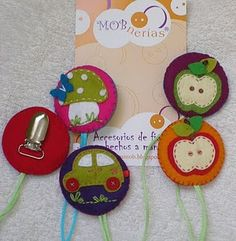 felt suspender clips/ pacifier clips.  All kinds of adorable! What a great gift.