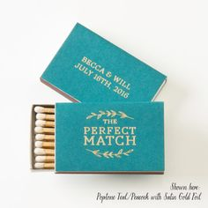 THE PERFECT MATCH Leaf Branch Matchboxes by PicturePerfectPapier