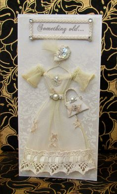 Something old Dress Card / DL Size / Handmade Greeting by BSylvar - beautiful!