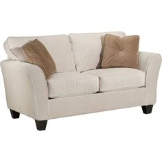broyhill furniture maddie contemporary style loveseat with flared arms apartment sofa wolf furniture broyhill