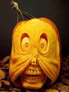 Crazy Pumpkin Carving funny crazy lol pumpkin halloween carve jack o lantern