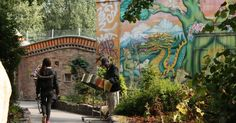 Freetown Christiania in Copenhagen. Fascinating place to study for an environmental designer, as its basically a functioning urban anarchist commune. Christiania Copenhagen, Bon Plan Voyage, Visit Denmark, Destinations, Copenhagen Denmark, Free Things To Do, Places To See, Tourism, Street Art